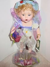 NEW IN BOX GEPPEDDO MIA WOODLAND FAIRY PORCELAIN DOLL WITH STAND