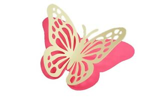 Pack of 3 one size Die Cut 3D BUTTERFLY Card Stock Paper Choose Color & Size