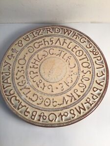 Vintage Frankoma Pottery Sequoyah Indian Alphabet Hot Plate