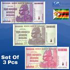 ZIMBABWE 100, 200, 500 Million Dollars 2008, USED Condition, [TRILLION 50 100]