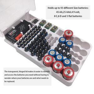 Batterie Kapazitätstester + Aufbewahrungsbox Batterien Akkubox Storage Organizer