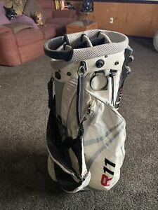TaylorMade R11 TP Tour Staff Golf Bag 6-Way Divide White Red Silver Black