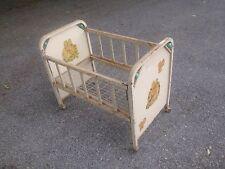 Vtg Metal 1950's  Doll Baby Crib Toy Drop side Dog Pet Bed Garden Planter