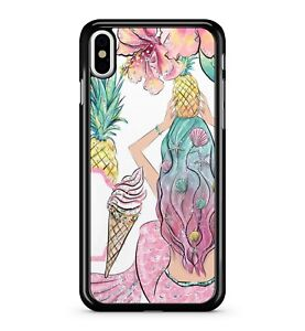 Pretty Colourful Mermaid Exotic Fruit Sweet Lush Ice Cream 2D Phone Case Cover