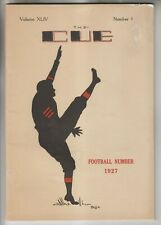 1927 BOOKLET - THE CUE - THE ALBANY ACADEMY NY - FOOTBALL NUMBER