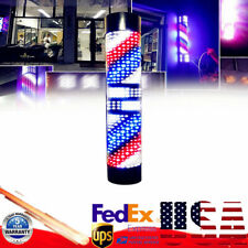 Barber Shop Led Pole Light Hair Salon Red White Blue Rotating Lamp Waterproof