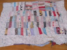 "Vintage Handmade Quilt Patchwork Pieced 50x70"" - Damaged - Sold As Is Cutter"