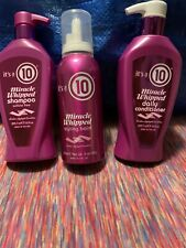 Its a 10 Miracle Whipped Shampoo Sulfate Free Conditioner,Styling Balm 3 Bottles
