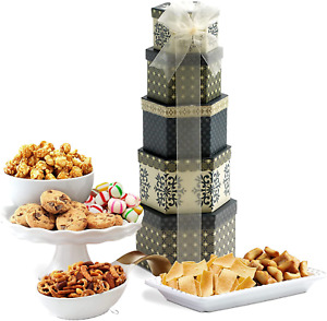 Savory Sweets Thinking of You Gift Tower, Perfect Gift Father's Day, Friends, Co