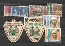 SIERRA LEONE, 16 VARIOUS,  MIXED