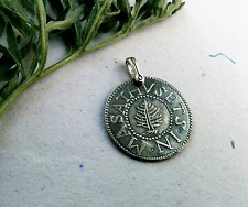 Pendant Fantasy Salem WitchTrial Pine Tree Silver Shilling Massachusetts