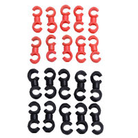 BW#A 10pcs Cycle Bike Bicycle MTB Brake Gear Cable S Style Clips House Hose Guid