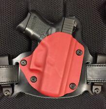 Glock 26/27 IWB/OWB Morph Hybrid Holster, Red Kydex, leather, RH
