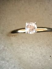 14ct gold .25ct Solitaire natural Diamond ring