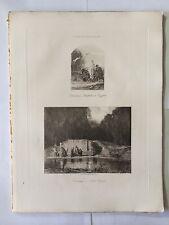 GRAVURE HELIOGRAVURE GEORGES PETIT 1904 DECAMPS FUITE EGYPTE - A LA SOURCE