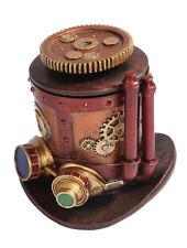 Steampunk Collection Gear Machinery Hat Box Figurine Caja Engranaje Sombrero