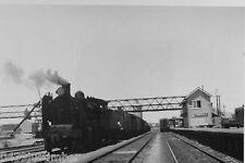 Victorian Railways Steam K154 and Train near Dimboola Signal Box Dec 1968