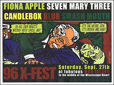 FIONA APPLE SMASH MOUTH 1996 New Orleans Original Concert Poster