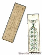 AMAZING Antique German clip-on tie made of glass beads in original box! VINTAGE!