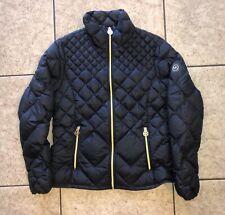 Michael Kors Womens M Jacket Packable Down Fill Puffer Coat Black Gold Hardware