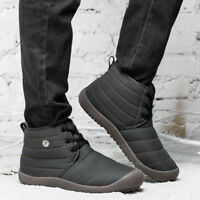 Men's Winter Warm Casual Waterproof Snow Boots Cotton Inside Shoes Large Size