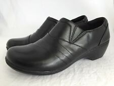 6f0acba71db CLARKS Channing Kim Black Zip Up Loafers Shoes Size 11 M