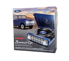 ION 4 IN 1 Retro Record Player Turntable AM FM Radio USB Ford Bronco Navy Blue