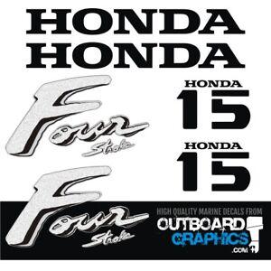 Honda 15hp 4 stroke outboard engine decals/sticker kit