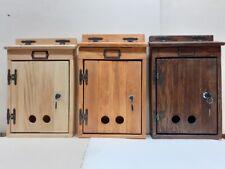 Cassetta per la posta, per lettere e riviste, in legno artigianale,