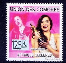 Comoros MNH, Marion Cotillard, French Film Actress, singer songwriter, musician,