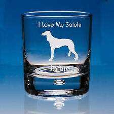 More details for saluki dog lover gift personalised hand engraved whisky glass