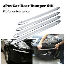 4x Car Chrome Fiber Anti-rub Strip Bumper Body Corner Protector Guard Universal