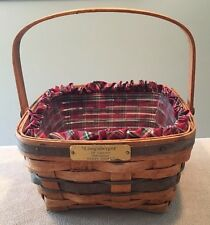 Longaberger 1990 JW Collection Berry Basket w/ Protector & Liner Pre-Loved