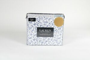 Ralph Lauren Full Sheet Set Floral 4pc Blue White & Blue 100% cotton