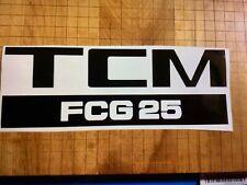 New listing 1 Tcm Forklift Decal Sticker Model Fcg25 Black Decal 10 X 3.5