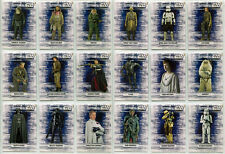 Star Wars Rogue One Series 1 Character Sticker Complete 18 Card Chase Set