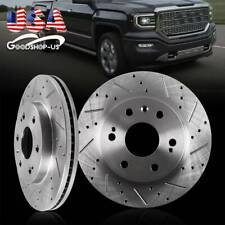Front Drilled Slotted Brake Rotors for 07-18 Silverado Sierra