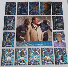Futera MANCHESTER CITY 2000 Chrome Foil Millennium 18 Card Set + XL Centre Piece
