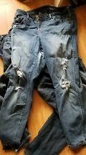 Lot of 3 Torrid Womens Size 16S 16R  Denim Jeans PRE OWNED torn (see pics)