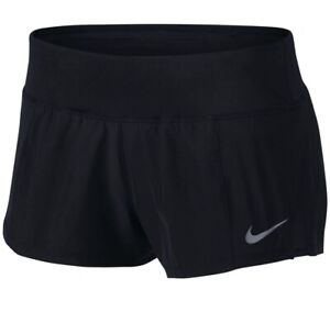 New Nike Dry Women's Dri fit Running Shorts Color Black Size Large NWT