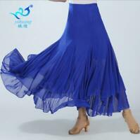 Latin Salsa Flamenco Ballroom Dance Dress Modern Tango Waltz Dancewear Skirts