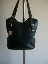 LOVELY DARK BROWN LARGE SOFT LEATHER TOTE HANDBAG BY COLORADO, VG COND.