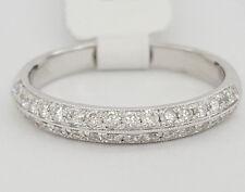 0.38 ct 18k White Gold Round Cut Diamond Double Row Wedding Band