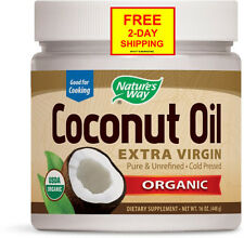 NEW Nature's Way Extra Virgin Organic Coconut Oil, 16 oz...*Free 2-Day Shipping*