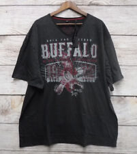 Buffalo David Bitton Mens Size 2XL Heather Blk Eagle Graphic V-Neck T Shirt New