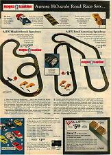 1974 ADVERTISEMENT 3 Pg Raceway Road Race Aurora AFX Penske XL-erator Marathon