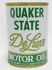 QUAKER STATE FULL DE LUXE ONE QUART OIL CAN LOT 4