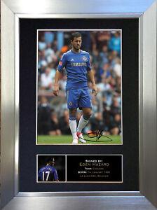 EDEN HAZARD Chelsea Football Signed Autograph Mounted Photo Re-Print 270