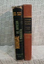 lot 2 old PRINTING AND PROMOTION HANDBOOK advertising Spanish & English editions