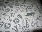 Handmade White Jungle Animal Double-sided Cotton/Flannel Baby/Toddler Blanket